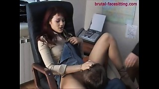 Office,Shaved,Face Sitting,Femdom