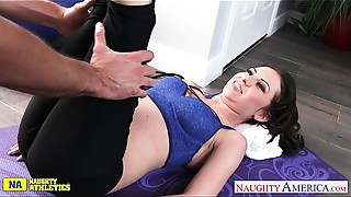 Blowjob,Brunette,Gym,Hardcore,Pornstar,Small Tits