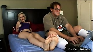Blonde,Foot Fetish,Hardcore