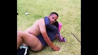 Black and Ebony,Caught,Couple,Hardcore,Public Nudity,Uniform